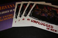 Nirvana Live Original Us 12x12 Promo Flats x10 Vg+ Unused Kurt Cobain