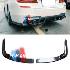Carbon Fiber Rear Bumper Add-on Splitters Chins Canards For BMW F10 M5 2011-2017
