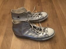 Converse Authentic  Size UK 11 Rare Silver High Tops Sneaker