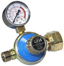 CFH Propandruckregler mit Manometer stufenlos regelbar 1-4 bar 52115