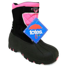 NEW Girls Totes Black Pink Jillian Waterproof Winter Snow Boots Size 5