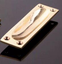 90 X 25mm Solid Brass Finger Pull Flush Handle Sliding Door Cabinet Lifting