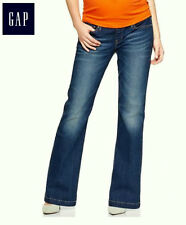 NWT GAP 1969 Maternity Denim Long and Lean Panel Stretch Flare Jeans Sz 26R 2