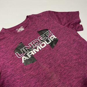 Under Armour Womens Purple Loose Heat Gear Shirt Large