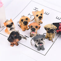 Lovely Resin Animal Pet Dogs Key Ring Key chain Key chains  Random Gift Jewel QA