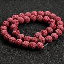 Natural Stone Beads Lava Rock Round Jewelry Making Gemstone U Pick Colour  15''