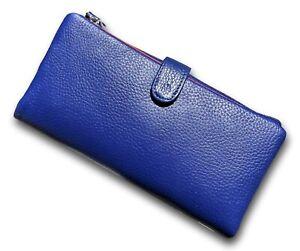 Ladies BLUE Leather 19cm Wallet