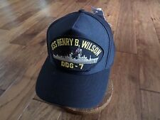 Uss Henry B Wilson Ddg-7 Navy Ship Hat U.S Military Official Ball Cap U.S. Made