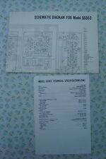 ORIGINALE Marantz sd363 STEREO Registratore a cassette diagramma schematico
