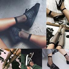 Womens Ruffle Fishnet Ankle High Socks Lady Mesh Lace Fish Net Short Socks