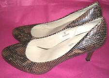 Marks & Spencer Autograph UK5 EU38 brown-mix Insolia court shoes - little wear