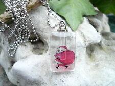 Mini Phiole, Parfum Flakon, Anhänger, Reiskorn Kette, Glas, klar, Nikolaus