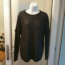 Love Knitwear size 12 Black Long Sleeve jumper Top With tiny Sequins BNWT