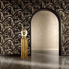 VERSACE GIUNGLA PALM LEAVES WALLPAPER - BLACK GOLD - 96240-1 NEW
