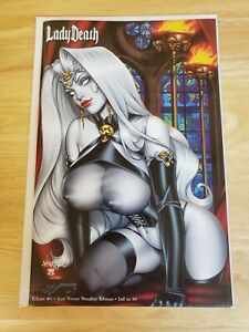 Lady Death Echoes #1 Jose Varese Naughty Edition LTD 50! Unsigned NM!