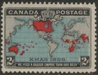 CANADA 86b 1898 2c DEEP BLUE WORLD MAP OR CHRISTMAS STAMP MNH FVF CV$131.25