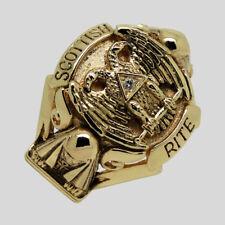 Scottish Rite Masonic Ring 14K Gold Diamond Knights Templar Size 14 by UNIQABLE