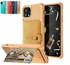 For iPhone 11 Pro Max XS XR Leather Magnetic Stand Card Holder Wallet Cover Case