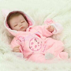 16'' Vinyl Silicone Sleeping Reborn Baby Dolls Girl Newborn Realistic Doll Toys