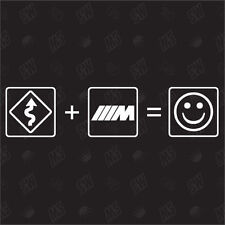 Curves + BMW M Power = Smile - Fun Sticker , Car fun Sticker
