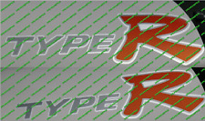 Honda Civic Type R Ep3 Reflectante VTEC X 2 Lado Falda Panel Pegatinas Calcomanías K20