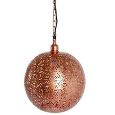 New Contemporary Moroccan Rose Gold Pendant Lighting Ceiling Hanging Lamp Ball