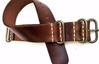 Ammo Leather Military Army Watch Strap fits Omega Handmade 18-24mm by A&U ®