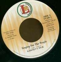 "Garnett Silk Singing For The People 7"" 45rpm Single Vinyl Roots Rock Reggae"
