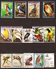 TOUS PAYS  Les  oiseaux exotiques ,timbres  grands formats F352