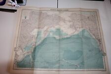 Large 1920's Map of North Pacific Ocean Times Atlas Bartholomew Folded Original