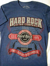 Hard Rock Cafe ® Guitar Company ™ Las Vegas Blue M Medium T-shirt New NWOT