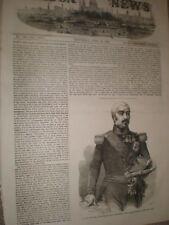 MAP ANTIQUE 1888 PELISSIER IMPERIAL FRANKFURT LARGE REPLICA POSTER PRINT PAM0364
