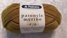 Patons Patonyle Merino 4 Ply #1035 Olive Green Sock Yarn 50g
