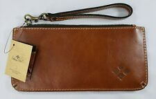 Patricia Nash Nwt St Croce Italian Leather Wristlet Wallet Tan Msrp $69