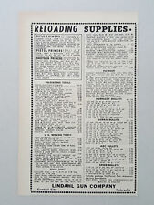 1952 Lindahl Gun Reloading Supplies Powder Bullets  Vintage Magazine Print Ad