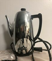 Vintage Westinghouse Coffee Percolator 9 Cups Stainless Steel Collectible Pretty
