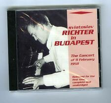 CD (NEW) SVIATOSLAV RICHTER IN BUDAPEST FEBRUARY 1958