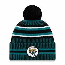 Nfl Jacksonville Jaguars Sideline 2019 Bobble Woolly Hat Cuffed Knit Hat Newera