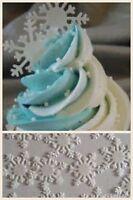 100 PreCut Snowflake Edible Rice Wafer Paper Cake Cupcake BIRTHDAY FROZEN topper