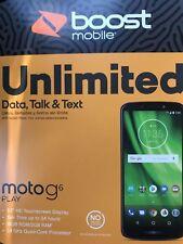 "New Boost Mobile Motorola Moto G6 Play 4G LTE 16GB 13MP 5.7"" Prepaid Smart Phone"