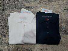 Cat & Jack Girls School Uniform Shirt Lot Size M 7-8 Polo 3 Button Short Sleeve