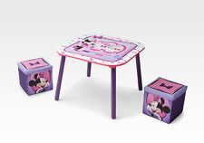 TT89423MN Minnie Mouse Table and Ottoman Set W/ Storage by Disney