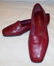 Antonio Melani Vino Borgoña Zapatos sin Cierres Planos 6M 6M Cuero Mujer