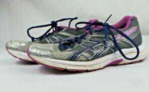 Asics Gel Contend 4 Ortholite Womens Sz 9 Gray Purple Blue Running Shoes