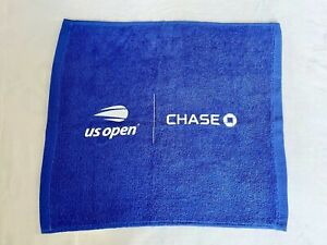 US Open Blue Towel Chase Small Decorative 11.5 in x 10.5 inch Tennis NY Team