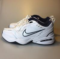Nike Mens Air Monarch IV Cross Trainer White Metallic Silver Running Shoes Sz 10