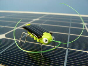 Solar Powered Grasshopper - Grass Hopper Small Fun Cheap UK Seller