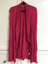 Clarity Threadz XL 18 16 pink vest drape waterfall stretchy crinkle close to new