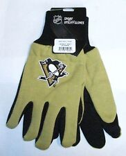 Pittsburgh Penguins Nhl Jersey Knit Work Garden Gloves Free Shipping