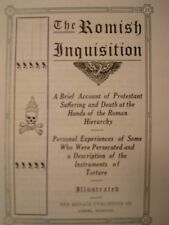 THE ROMISH INQUISITION/ANTI-CATHOLIC/PROTESTANT BOOK~The Jesuits~Pope Francis